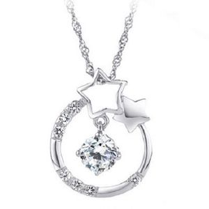 Jewelry - Star Circle Diamond Crystal Pendant Necklace